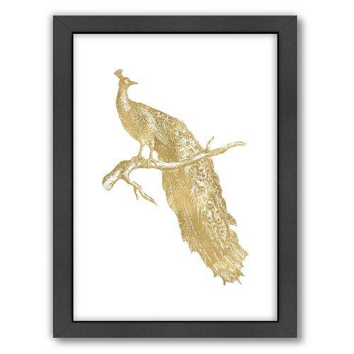 "Americanflat ""Single Peacock"" Framed Wall Art"