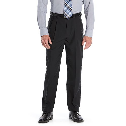Mens Croft Barrow Classic Fit Easy Care Pleated Dress Pants