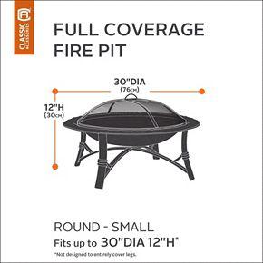 Classic Accessories Veranda Small Round Fire Pit Cover Full Coverage