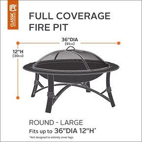Classic Accessories Veranda Large Round Fire Pit Cover Full Coverage