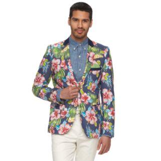 Men's WD.NY Floral Slim-Fit Suit Jacket