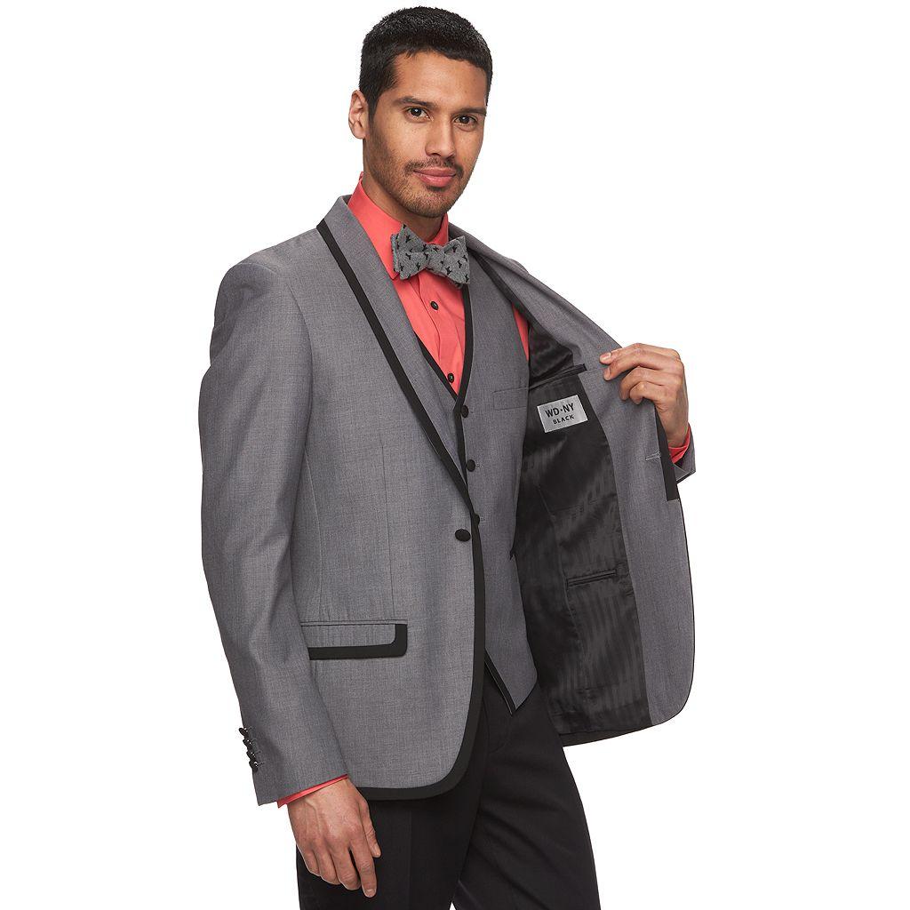 Men's WD.NY Slim-Fit Gray Tuxedo Jacket