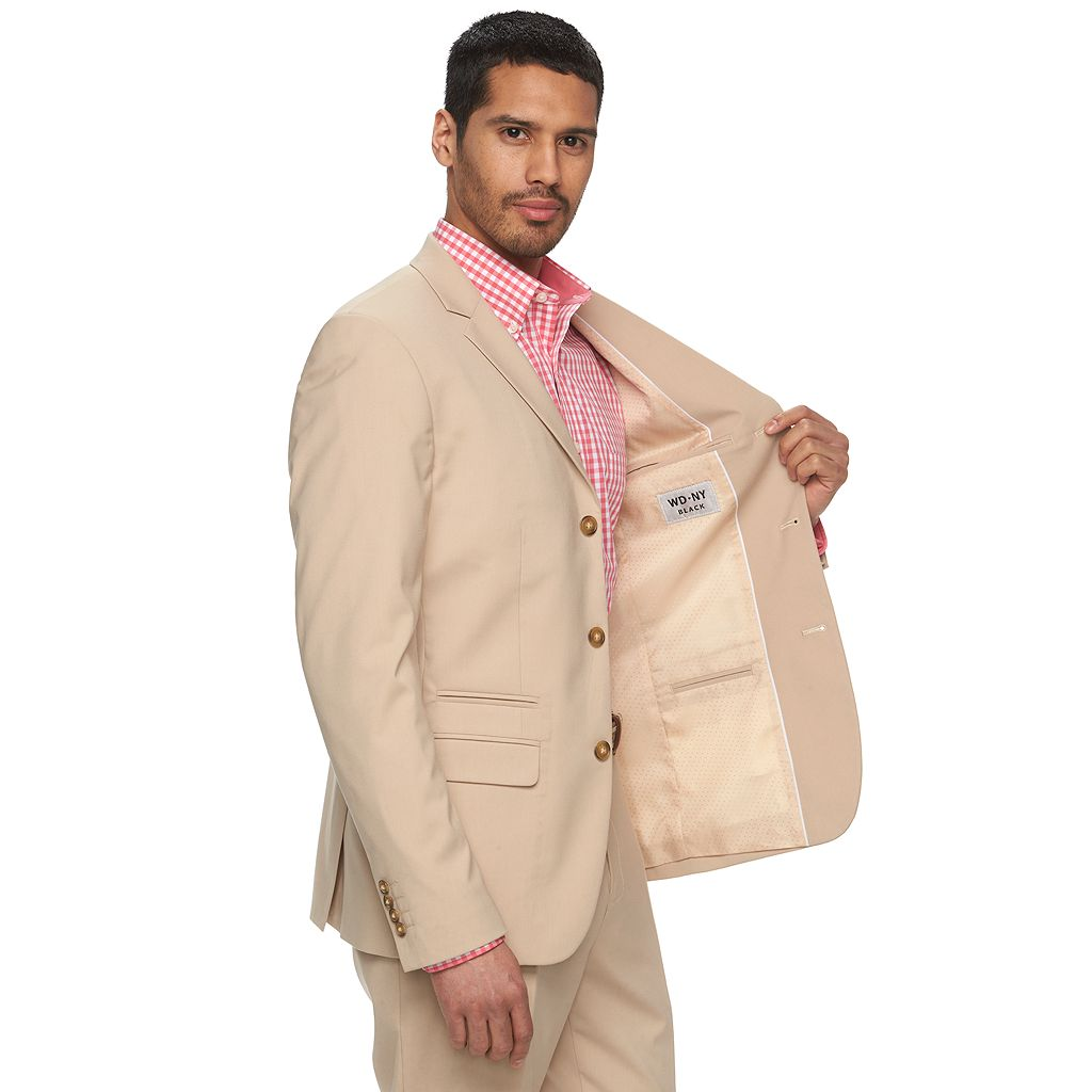 Men's WD.NY Slim-Fit Tan Suit Jacket