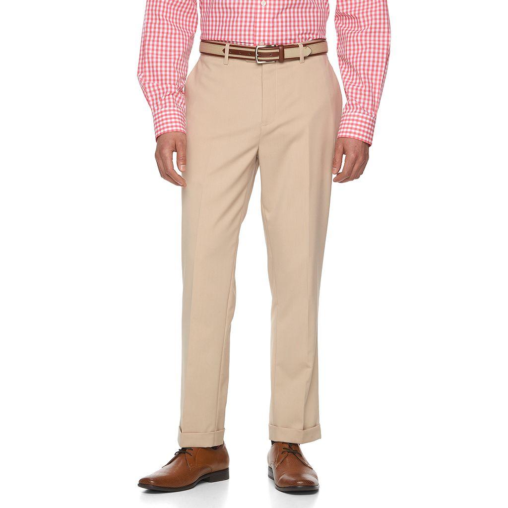 Men's WD.NY Slim-Fit Tan Suit Pants