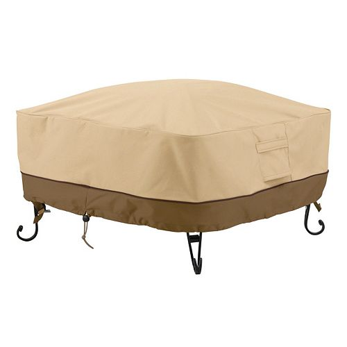 Classic Accessories Veranda Large Square Fire Pit Cover Full Coverage