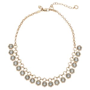 COCO LANE Hexagon Collar Necklace