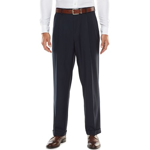 Men's Croft & Barrow® Stretch Classic-Fit True Comfort Pleated Suit Pants