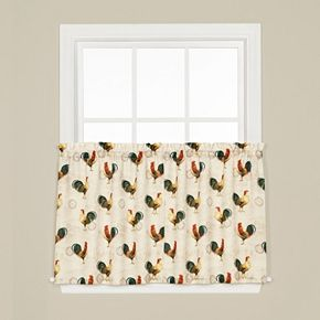 Saturday Knight, Ltd.  2-pack Tuscan Morning Tier Curtains
