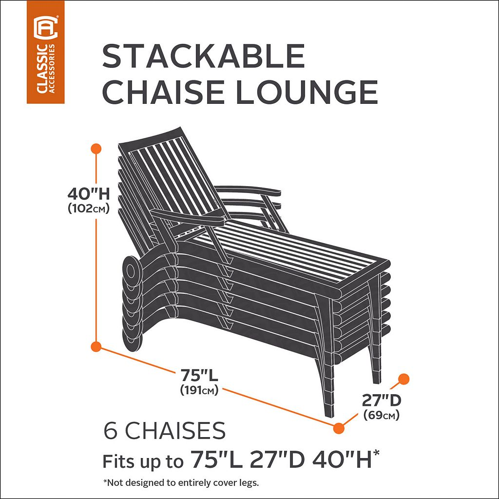 Classic Accessories Ravenna 6-Chair Chaise Cover