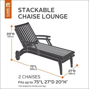 Classic Accessories Ravenna 2-Chair Chaise Cover