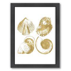 Americanflat 'Seashell Quad' Framed Wall Art