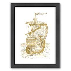 Americanflat 'Ship 1' Framed Wall Art