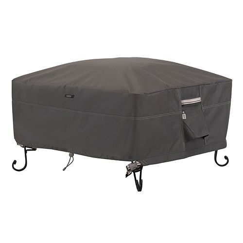 Classic Accessories Ravenna Large Square Fire Pit Cover Full Coverage