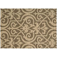 Nourison Riviera Emblem Scroll Wool Rug