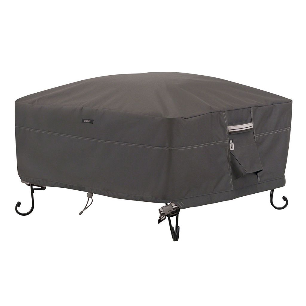 Classic Accessories Ravenna Small Square Fire Pit Cover Full Coverage