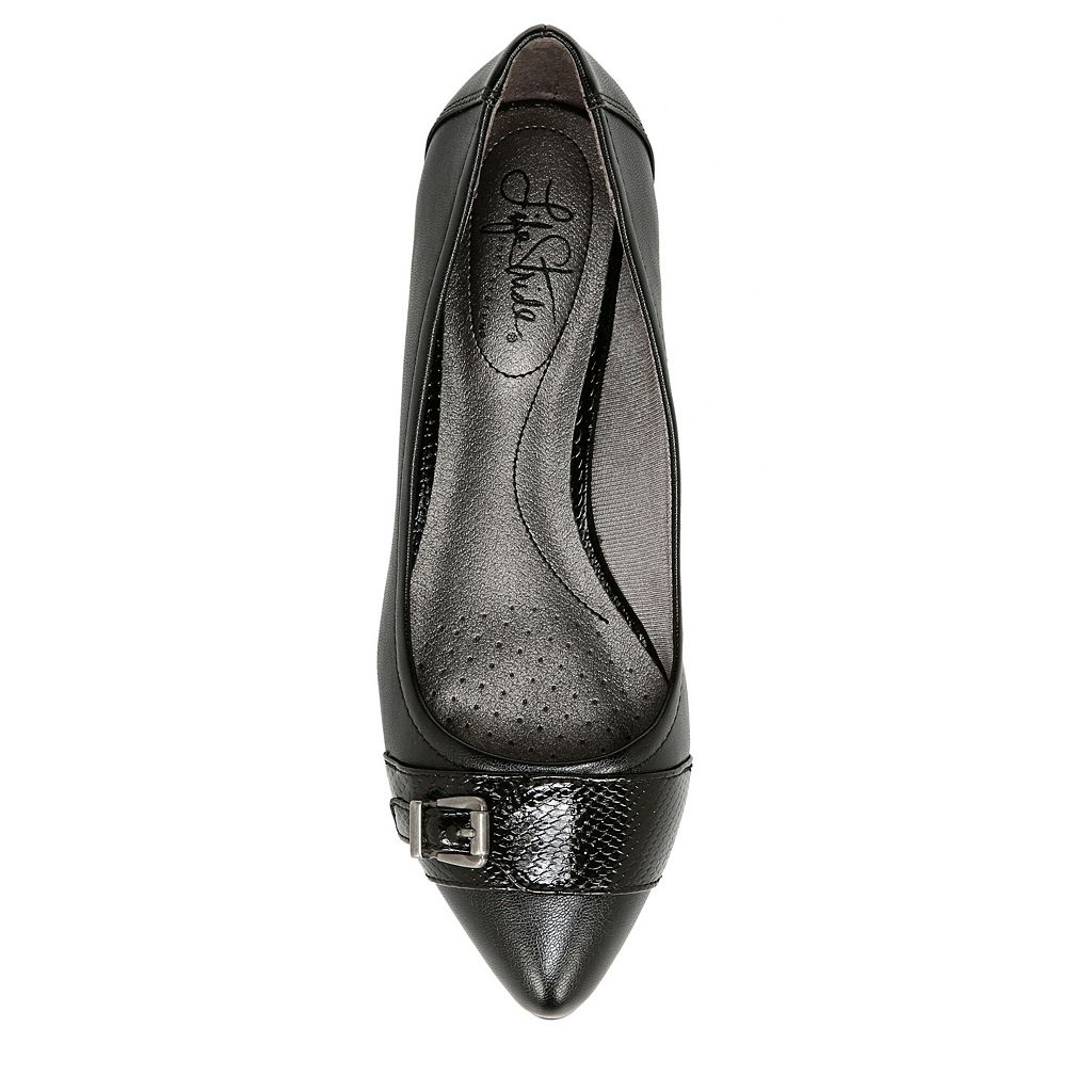 LifeStride Qualify Women's Buckle Ballet Flats
