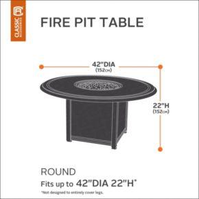 Classic Accessories Veranda Fire Pit Table Full Coverage Cover