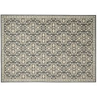 Nourison Riviera Ornamental Framed Wool Rug