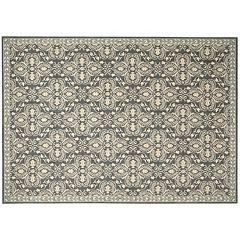 Nourison Riviera Ornamental Framed Wool Rug