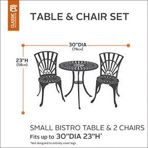 Classic Accessories Veranda Small Patio Bistro Table & Chair Cover