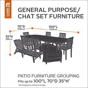 Classic Accessories Veranda Patio Furniture Set Cover