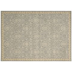 Nourison Riviera Vines Framed Wool Rug