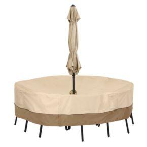 Classic Accessories Veranda Large Round Patio Table Cover & Umbrella Hole