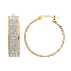 Sterling Silver Inside-Out Hoop Earrings