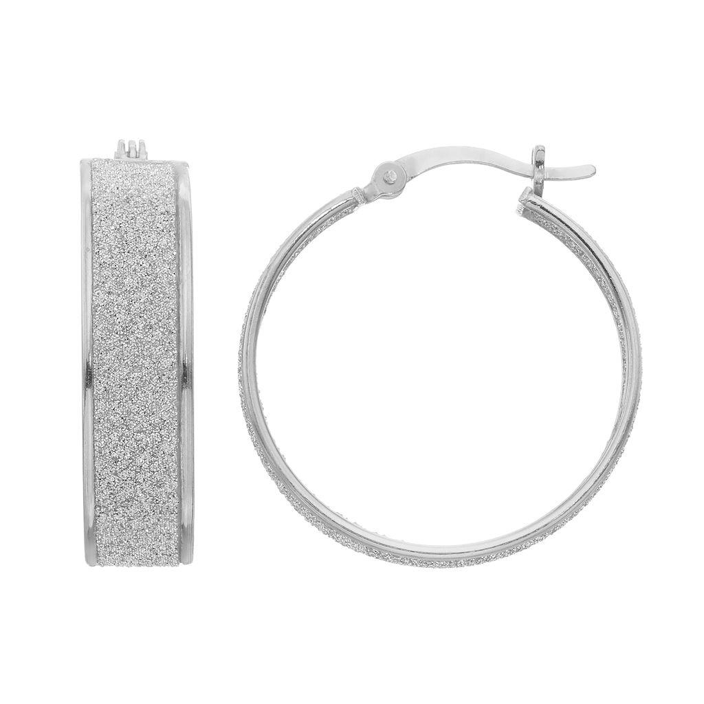 Sterling Silver Inside-Out Hoop Earrings