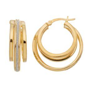 Sterling Silver Multi Hoop Earrings