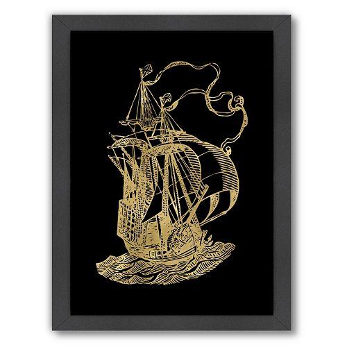 "Americanflat ""Ship 2"" Framed Wall Art"