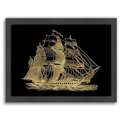 "Americanflat ""Ship 3"" Framed Wall Art"