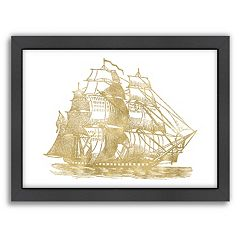 Americanflat 'Ship 3' Framed Wall Art