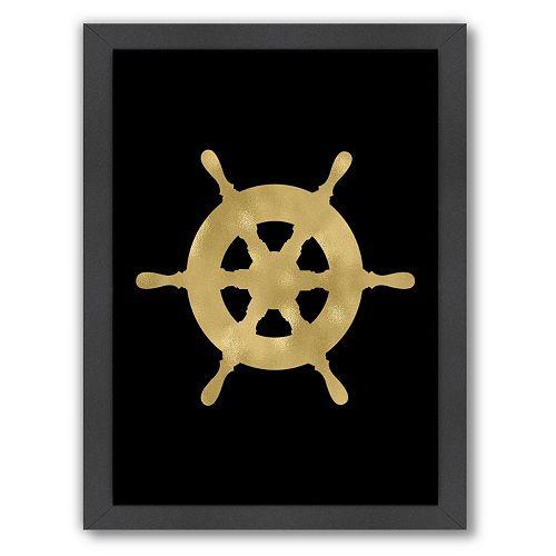 "Americanflat ""Ship Wheel"" Framed Wall Art"