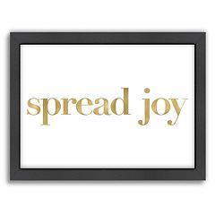 Americanflat 'Spread Joy' Framed Wall Art
