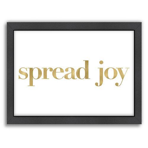 "Americanflat ""Spread Joy"" Framed Wall Art"