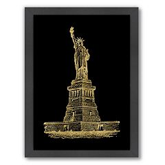 Americanflat 'Statue Of Liberty' Framed Wall Art