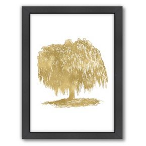 """Americanflat """"Weeping Willow Tree"""" Framed Wall Art"""