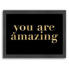 Americanflat 'You Are Amazing' Framed Wall Art