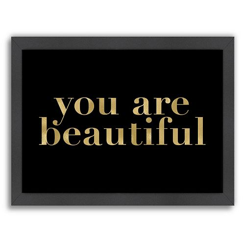"Americanflat ""You Are Beautiful"" Framed Wall Art"