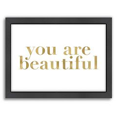 Americanflat 'You Are Beautiful' Framed Wall Art