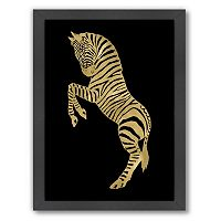 Americanflat Zebra Framed Wall Art