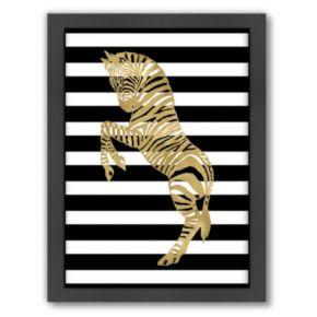 Americanflat Zebra Framed Wall Art
