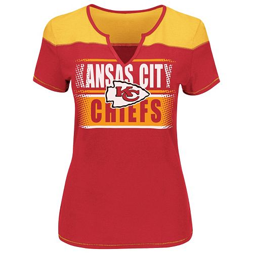 3acd1a1c Plus Size Majestic Kansas City Chiefs Football Miracle Fashion Top