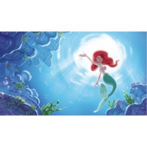 "Disney Princess The Little Mermaid ""Part of your World"" XL 7-piece Prepasted Mural Wall Decal"