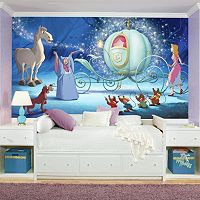 Disney Princess Cinderella Carriage XL 7 pc Mural Wall Decal