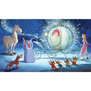 Disney Princess Cinderella Carriage XL 7-piece Mural Wall Decal