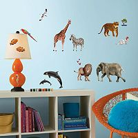 Animal of the World Peel and Stick Giant Wall Decals