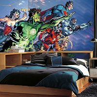 Justice League XL 7 pc Prepasted Mural Wall Decal