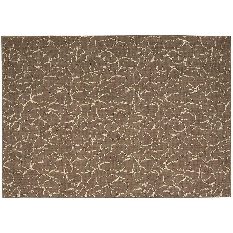 Nourison Nepal Crackled Wool Rug, Brown, 8X11 Ft